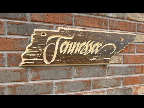 Here is how I made a Rustic Tennessee Shaped sign. I loved the shape of my Home … – Cnc