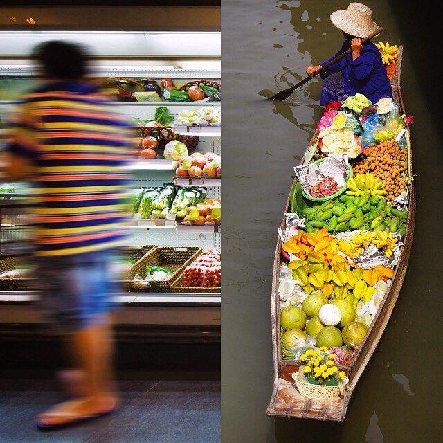 Ikke et ondt ord om supermarkeder, men nogle gange er shopping altså lidt mere farverig i udlandet som f.eks.i Bangkok  #Thailand #DamnoenSaduak #Bangkok #Mad #food #Markeder #drømmerejser #kultur #culture #PlacesAroundEarth #BestVacation #travel #Vacation #TravelAndLife #worlderlust #adventure #shopping