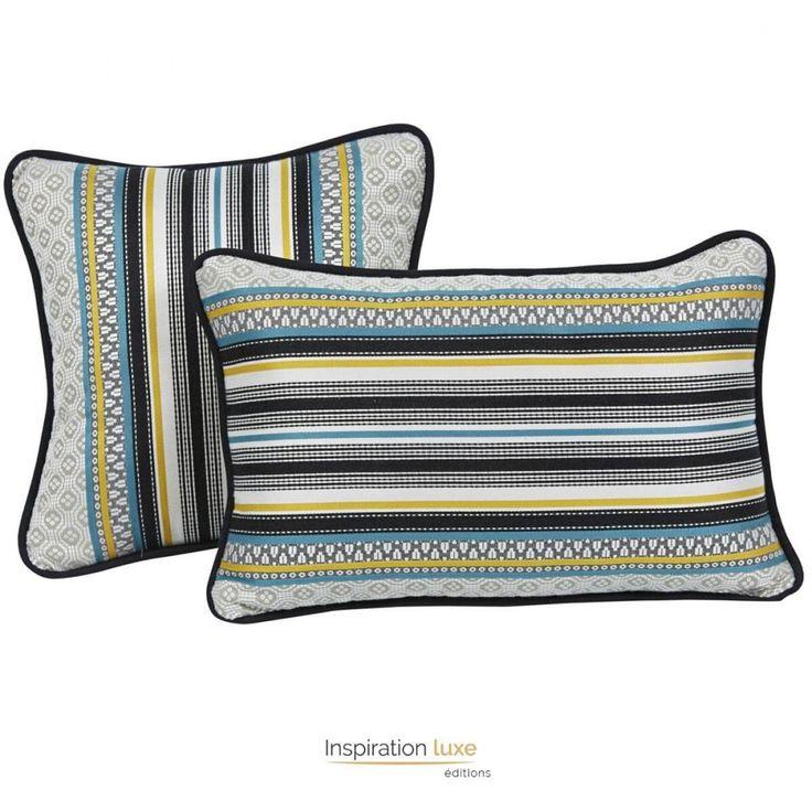 Coussin design à motifs sud américains.  #coussin #design #coussindesign #déco #deco #maison #confort #cocoon
