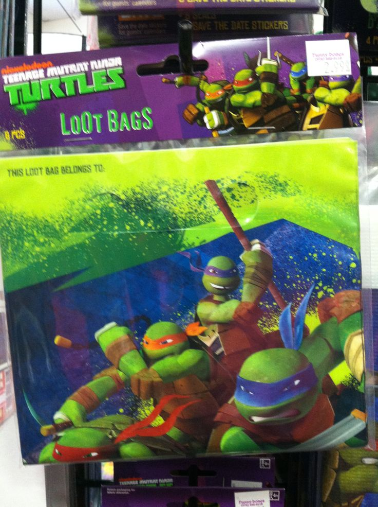 All things #TMNT! We love #Teenage #Mutant #ninja #turtles and you will find them here at #FunnyBones party superstore. #KidsParty #turtle #party #kids www.gofunnybones.com #lootbags