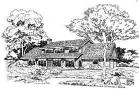 Contemporary Earth Sheltered s Retro House Plan 10541 Elevation