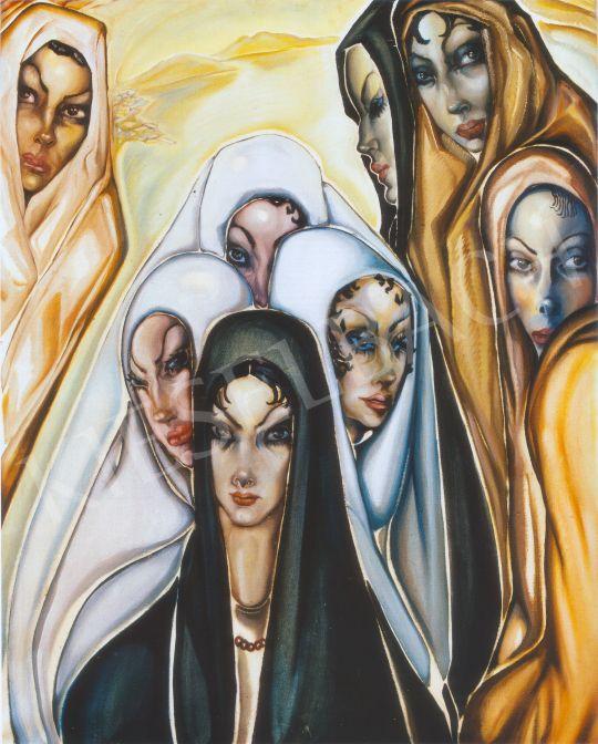 Batthyány Gyula - Las Palmas-i nők festménye