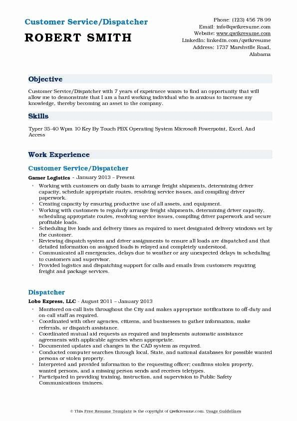 Dispatcher Job Description Resume Awesome Customer Service Dispatcher Resume Samples Job Description Resume Assistant Jobs