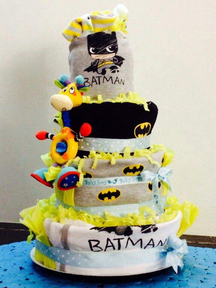 BATMAN TORTA DI PANNOLINI/BATMAN DIAPER CAKE