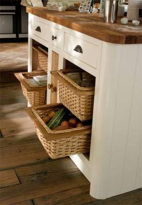 Good idea for keeping vegetables - Drawer-Line Wicker Basket Base Units