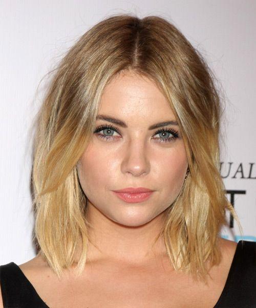 Ashley Benson Hairstyle - Medium Straight Casual - Dark Blonde