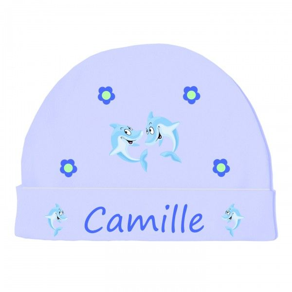 bonnet naissance vetement b b dauphin bleu liste. Black Bedroom Furniture Sets. Home Design Ideas