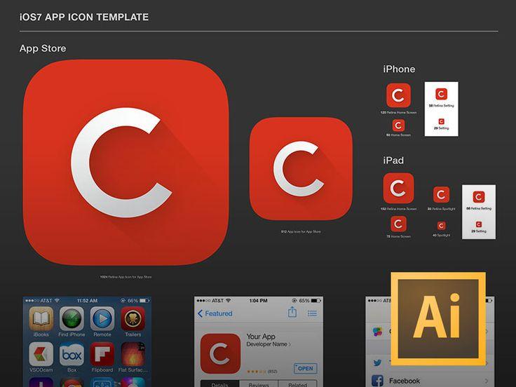 iOS7 App Icon Template (.AI)