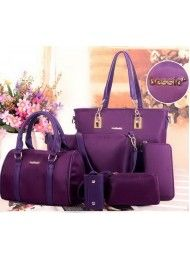 BT4823-PURPLE BAG (6in1) Material:Parachute Fabric Length: 29 cm Height: 28 cm Depth:13 cm  Bag Mouth: Zipper Bag Mouth: Magnet     Long Strap: yes 1  kg  ..