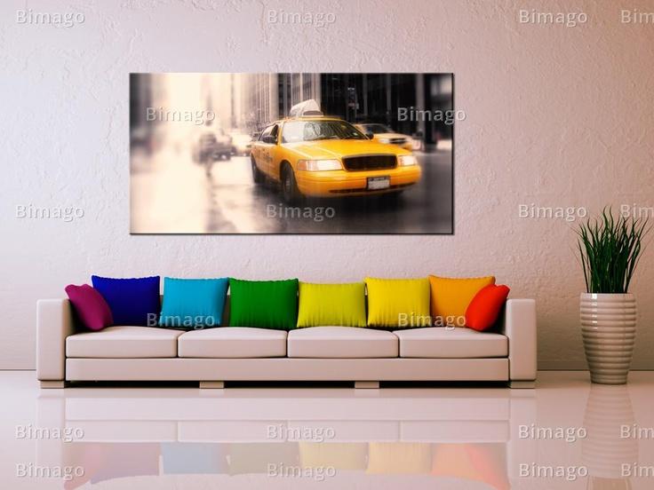 Tableau Taxi jaune