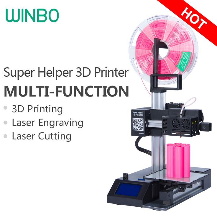 Cheap 3D Printer Multi-function (3 in 1)3D Printing+Laser Engraving+Cutting ,High-accuracy Winbo Super mini 3D Printer Assembled
