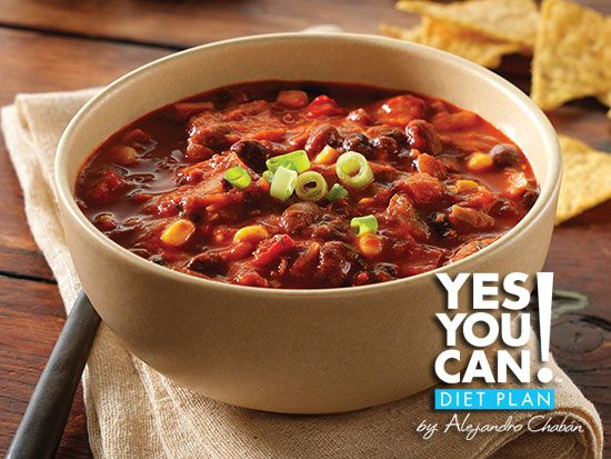 Three Bean Chili - A healthy option for your Yes You Can! Diet Plan lunch