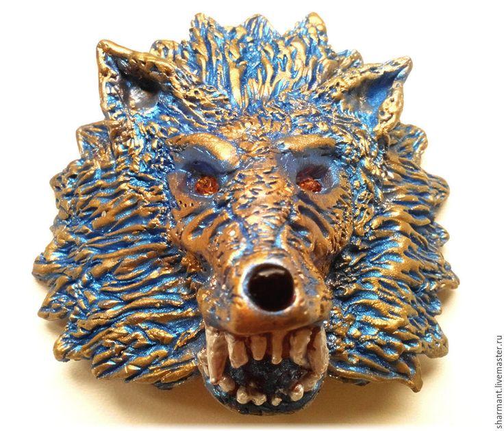 """Купить """"Волк"""", подвеска в салон автомобиля, подарок мужчине на 23 февраля - синий, волк"""