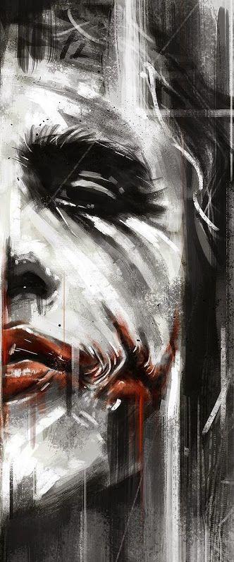Batman 75th Anniversary Tribute Heath Ledger as Joker in 2008 - Art by Robert Bruno