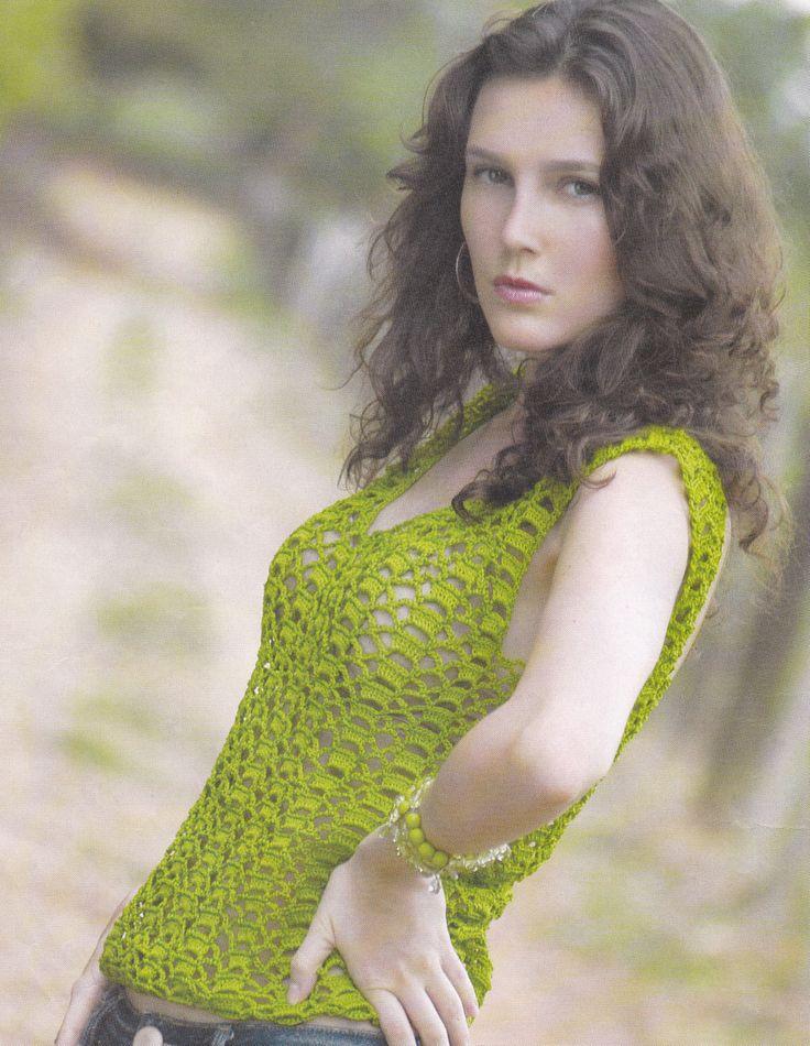 top verde musgo