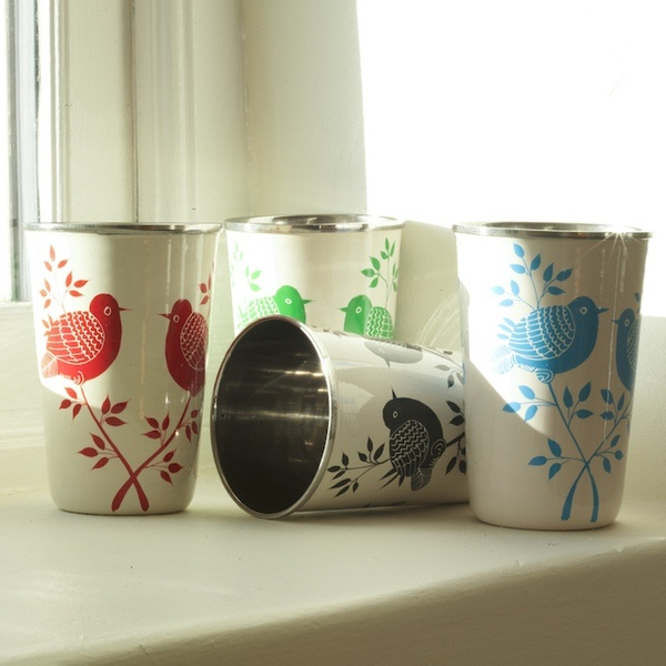 """Lolita"" hand-painted cups by Eco Eco"