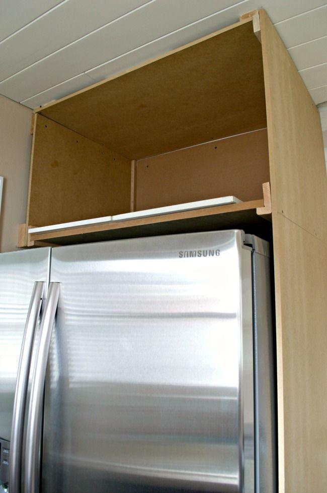 DIY Refrigerator Cabinet. Refrigerator CabinetKitchen ...