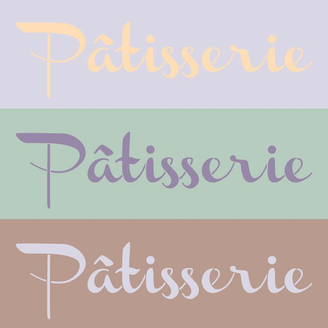 French lettering stencil for classy French design in kitchen decor