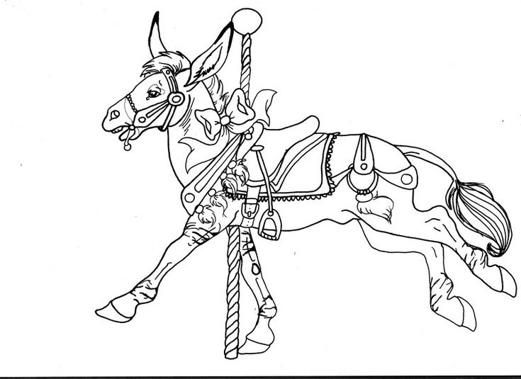 coloring pages of carousel zebra - photo#14