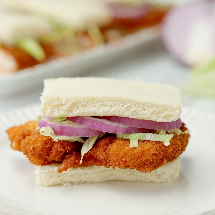 this crispy chicken sandwich hits the spot take a bite of crispy goodness with a kick of spice using mccormick paprika an off in 2020 yummy food tasty food recipies pinterest