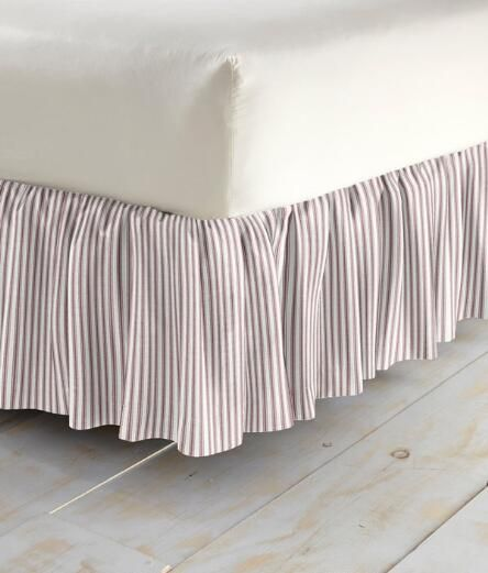 Ticking Stripes Gathered Dust Ruffle