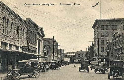 Central Avenue Looking South, Brownwood, TX 1910s