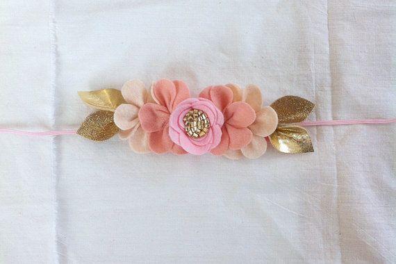 P I N K . O M B R E // Felt Flower Crown // by fancyfreefinery