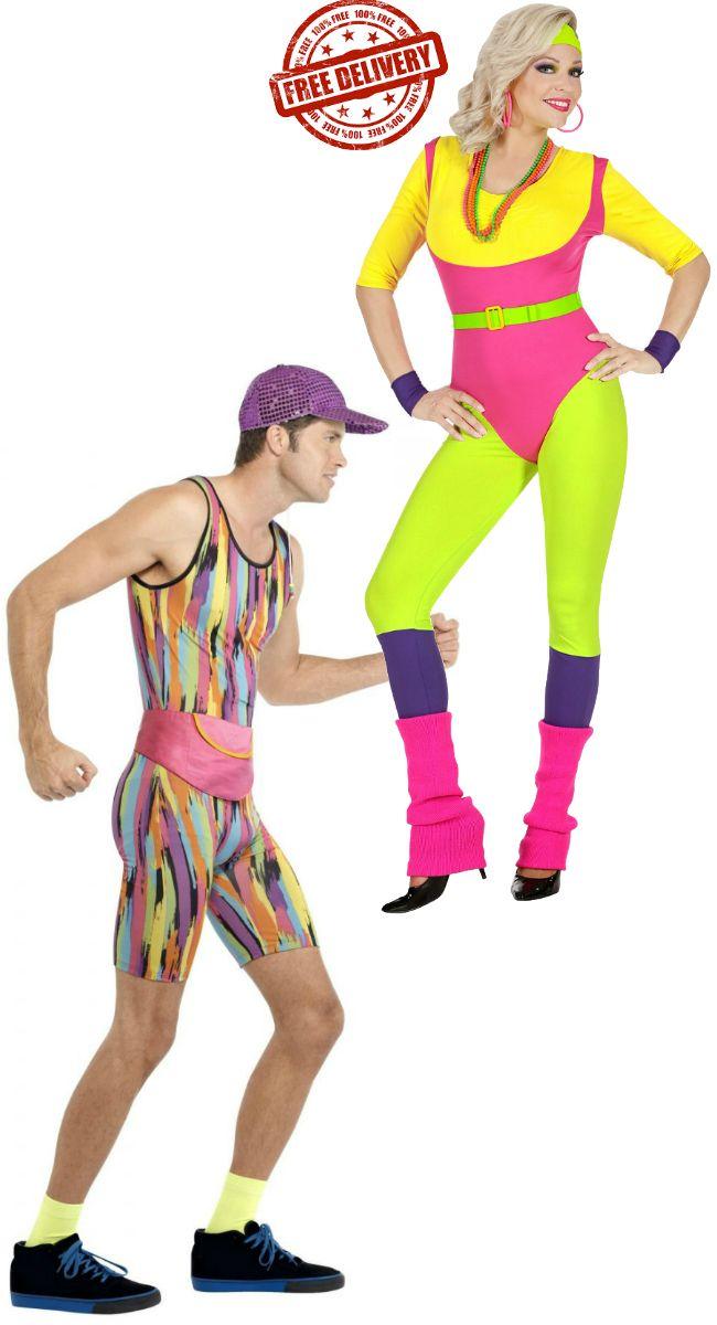 80s Aerobics Intructors Couples Fancy Dress 80s Fancy Dress Fancy Dress Shops