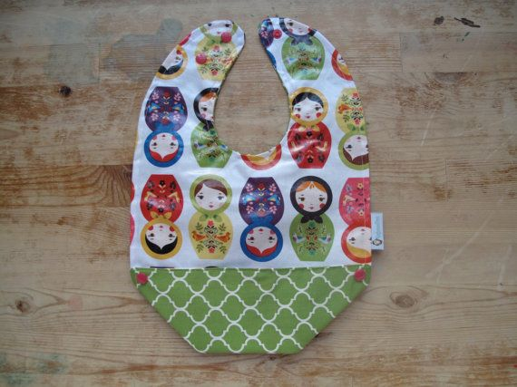 Plastic Bib with Pocket Plastic Bib with Snaps by RagamuffinsandCo