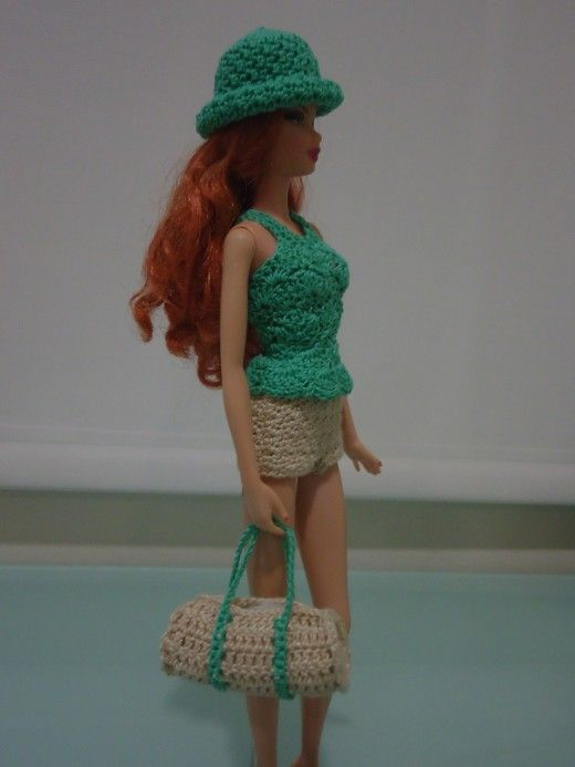 188 best barbie images on pinterest doll clothes baby doll barbie duffle bag free crochet pattern dt1010fo