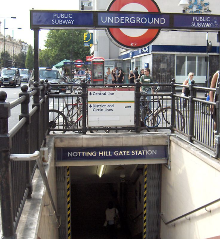 Entrance to Notting Hill Gate Tube Station (Central and Picadilly Lines) accessed via #52 bus on Ladbroke Grove or walking from the home  (20 min).