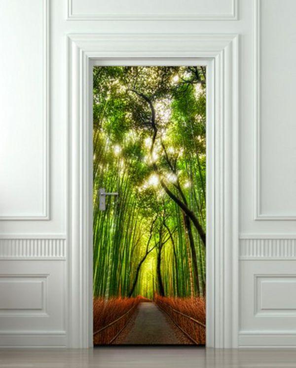 Poster Trompe L Oeil Pour Porte  Conceptions De La Maison  BizokoCom
