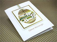 "Luxury Easter Card ""Easter Blessings"""