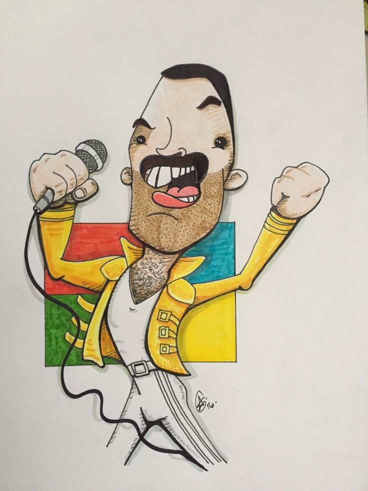 Freddy Mercury of Queen by Aaron Goulborn.