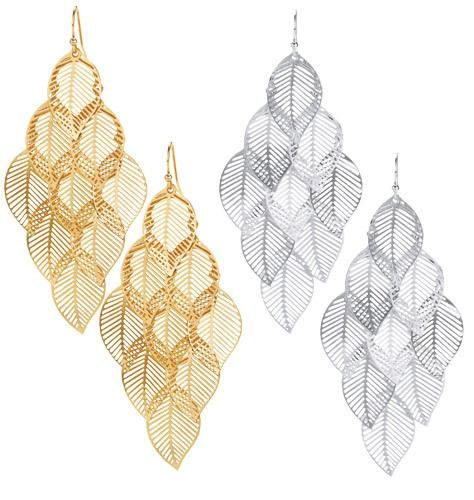 "Leaf motif. Pierced 3"" L. GOOD TO KNOW All of Avon-s jewelry is nickel-free for those with sensitive skin & allergies to nickel. More Details"