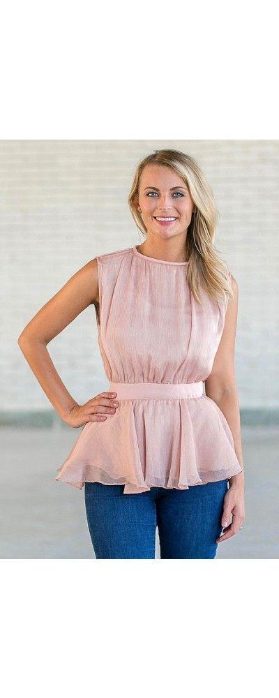 Lily Boutique Ashlyn Sheer Peplum Top in Rose, $34 Rose Pink Peplum Top, Cute Juniors Top www.lilyboutique.com