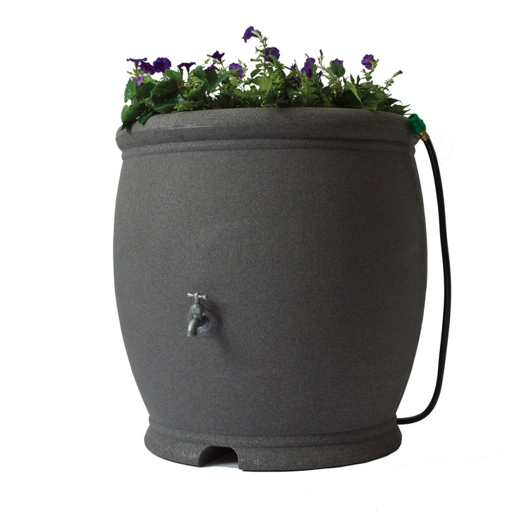 100 gallon rainbarrel for the front yard: 100 Gallon, Algreen 85241, Algreen Barcelona, Rainbarrel, Rain Barrels, Barcelona Rain, 85241 Barcelona, Dark Granite, Garden
