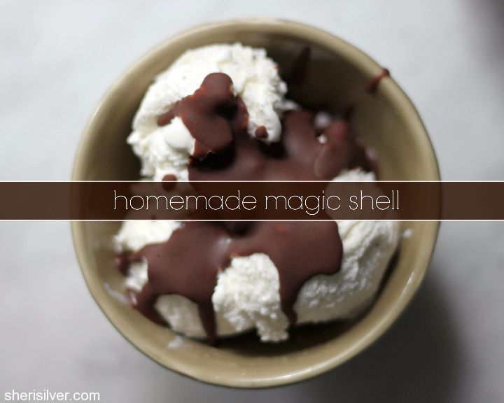 Homemade Magic Shell - only 3 ingredients and SO much better than ...