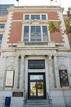 The Academy of Natural Sciences of Drexel University, formerly Academy of Natural Sciences of Philadelphia, is the oldest natural science research institution and museum in the New World.