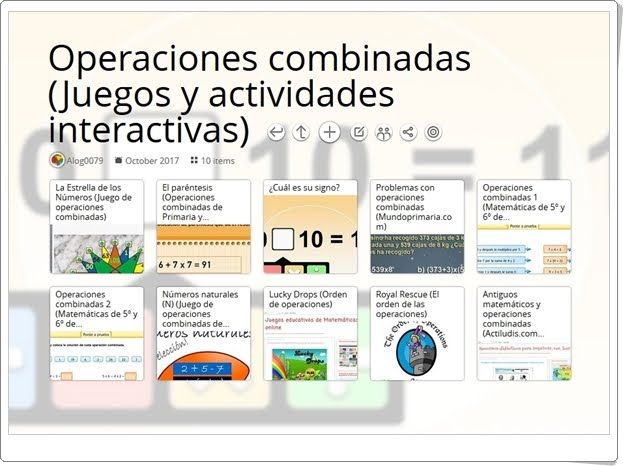 10 Juegos Y Actividades Interactivas Para El Ejercicio De Las Operaciones Combinadas En 5º De Prima Actividades Interactivas Juegos De Matemáticas Actividades