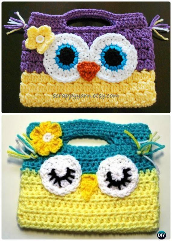 Crochet Owl Handbag Free Pattern-Crochet Owl Ideas Free Patterns