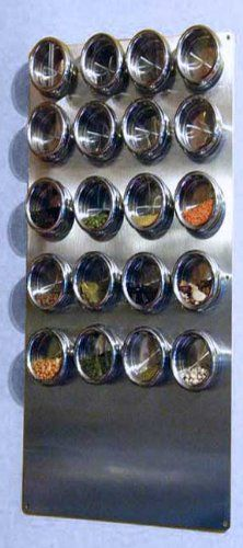 "Spice Tin Wall Base, Stainless 12"" X 24"" for Magnetic Spice Tins River's Edge http://www.amazon.com/dp/B004TB9NFE/ref=cm_sw_r_pi_dp_SXmTwb0E6PK3N"