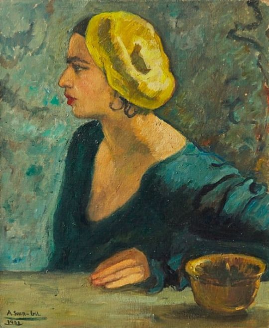 Untitled (Self Portrait) (1931) by Indian painter Amrita Sher-Gil (1913-1941). Oil on canvas, 25625 x 21.25 in. via Christie's