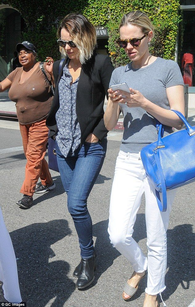Spitting image: Rachel McAdams was spotted on Saturday grabbing lunch with her little sister Kayleen McAdams, a successful make-up artist, in Los Angeles