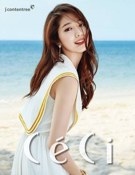Park Shin Hye becomes a beach goddess in colorful dresses for 'CeCi'…