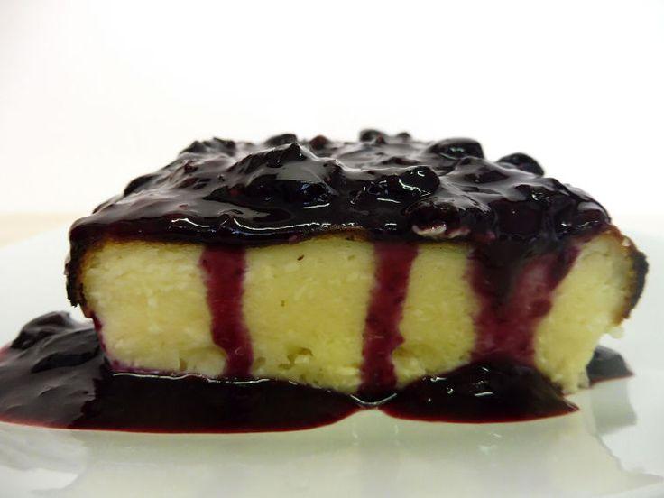Cheesecake fácil con compota de arándanos casera #cheesecake #cake #tarta #homemade #receta #recipe