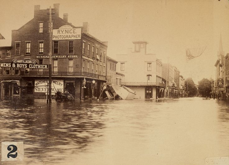 The Johnstown flood, 1889.