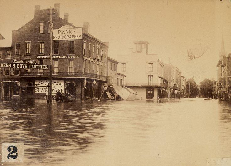 The Johnstown flood, 1889.