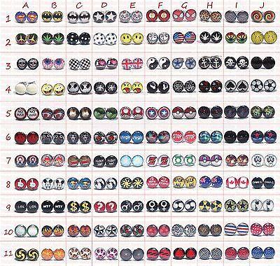 PAIR-of-MENS-EAR-STUD-EARRINGS-Boys-Womens-Girls-Logo-Stainless-Steel-Studs