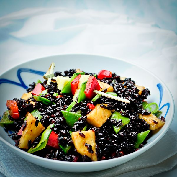 sweet and sour forbidden rice: Health Food, Red Peppers, Recipe Food, Raw Foodies, Rawmaz Transitional, Healthy Food, Black Rice, Raw Food Recipe, Rawfoods